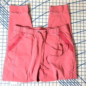 Coral colored Anthropologie joggers medium guc